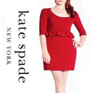 Kate Spade Plus Size Red Dress Size 14